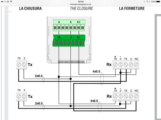 Came Photocell Wiring Diagram